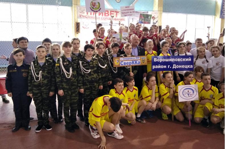 Школьники Свердловска приняли участие в фестивале спорта и искусств «Соколенок Донбасса»